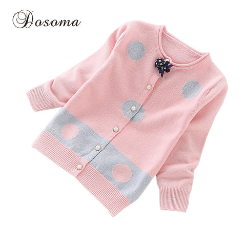 Girl's Long-sleeved Warm Knitted  Clothes