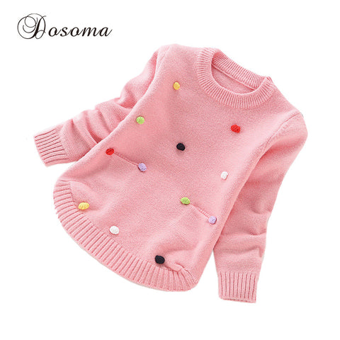 Cotton Balls Knitted Sweaters Princess Pullover Clothes