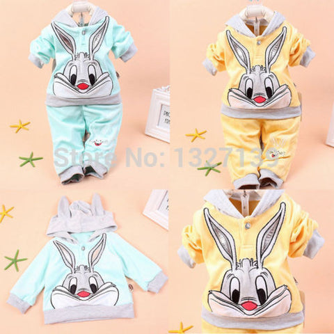 2PCS Baby Kids Hoodie Outwear Pants Suit Outfit Clothes 0.5-2Year FaLL Winter