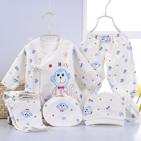 (5pcs/set)Newborn Cotton Cartoon Infant Clothing