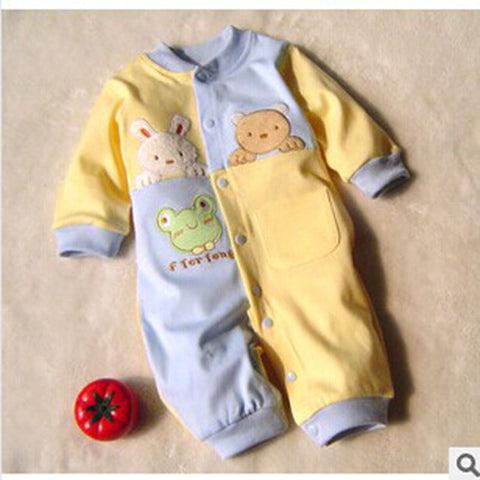 One Piece Long Sleeve Thin Cotton Newborn Baby Clothing Infant Baby Clothes