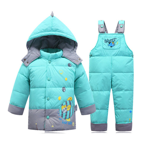 Baby Infant Boy Snowsuits Clothes Sets,Full Sleeve Warm Children Coat