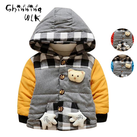 Boys Hoodies Coat Thickened Outerwear Kids Infant Overalls Baby Snowsuit Children Down