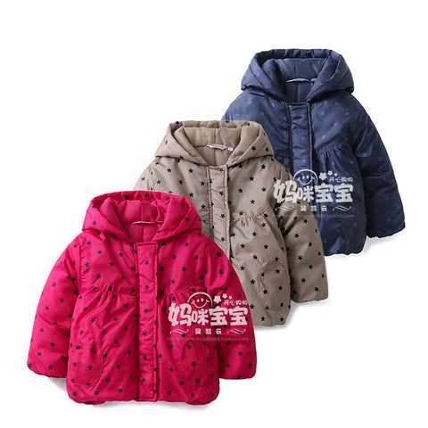 baby polka dot padded jacket children down clothes