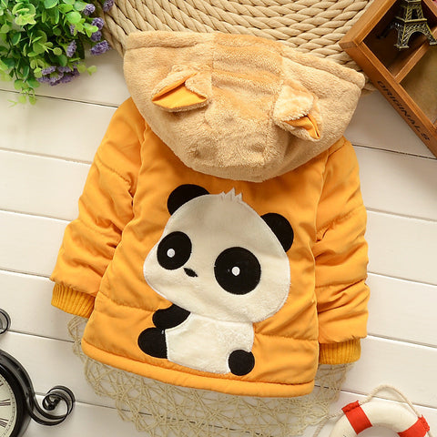 Baby Down Hooded Coat Flannel Cotton Padded Infant Outfit Jacket Parkas Clothes for All Boys Girl