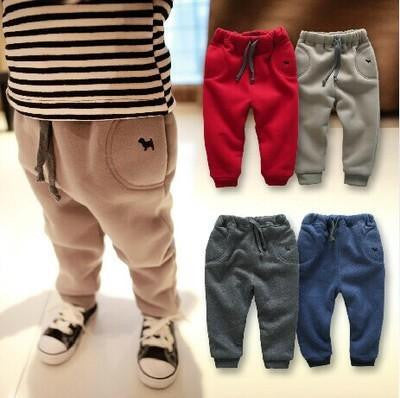 winter clothes new baby boy pants thick trousers 0-1-2-3 years old infants trousers