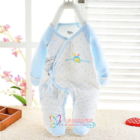 Jumpsuits Warm Cotton Baby Footie Long Sleeve Baby Clothing Good Quality