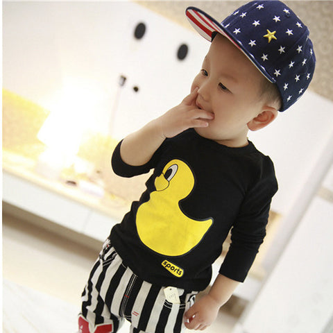 Duck pattern children clothes Boy T-Shirt