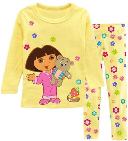 2 pcs sleepwear long sleeve cartoon pajamas