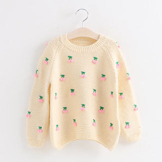children sweater girls cute girls baby clothing suit 2~7 age girl knitted sweater