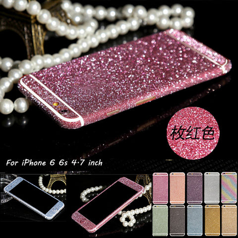 Case For iPhone 7 5s Matte Decals For iPhone SE 6 6s plus Luxury Bling Sparkly Screen Protector
