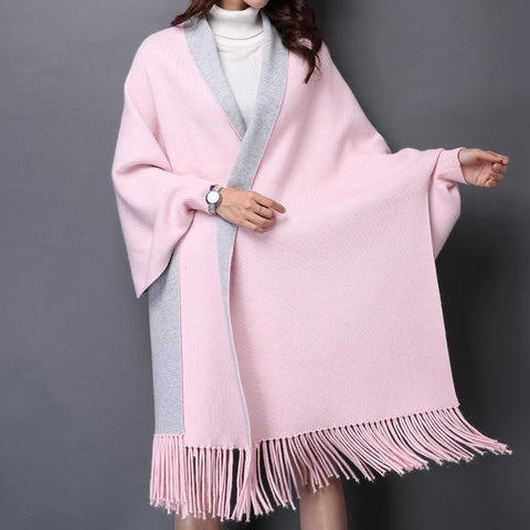 Big Scarf Knitted Shawl Echarpe Luxury Tassel Winter Scarve