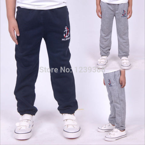 Children kids boys Embroidery Terry Long sport pants ,Free shipping