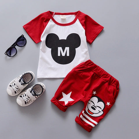 Sports two piece suit for 1 2 3 4 years old baby boys girls  short set A234