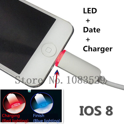 LED Bright 8 Pin USB Fast Charger Data Cable Cords wire For Apple iPhone 6 6s plus 5 5s ipad Mini Air 2