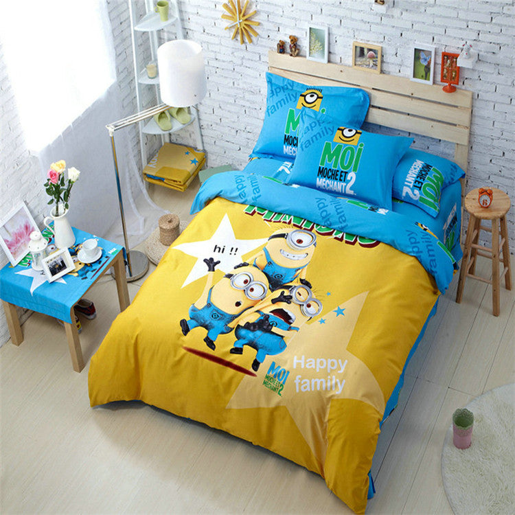 4Pcs of duvet cover bed sheet pillowcase,