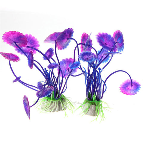 Aquarium Decorations Plants Fish Tank Grass Flower Ornament Decor Aquatic Animals Accessories
