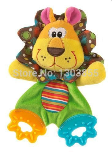 HOT Baby Infant Soft Appease Toys Towel Playmate Calm Doll Teether Developmental Toy LION