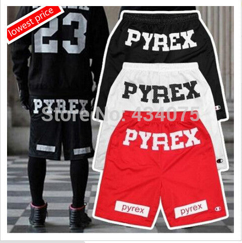 Men Loose Harajuku Slim Shorts Hot Hip-hop Street Drop Ship Black BAB053-01