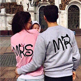 New lovers Womens Mens Long Sleeve Couple Clothes Jumper Pullover Tops Blouse Sweater