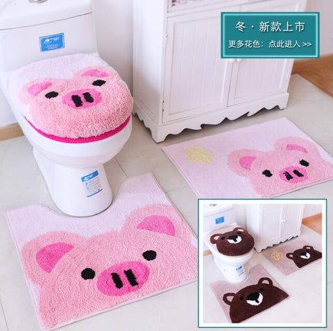 Cartoon toilet seat  rugs
