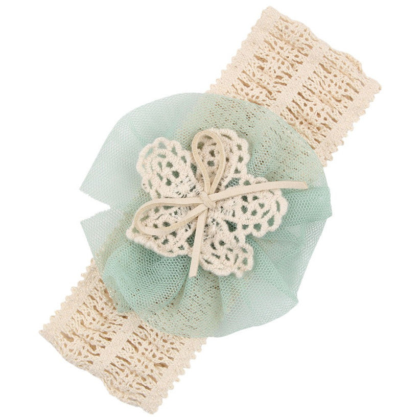 Infant Headbands Mesh Flower Hair Bands Fashion Child Hair Accessories Aug3