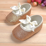 Girl Princess Sparkly Shoes Golden Silver Footwear Toddlers Fashion Soft Sole Shoes