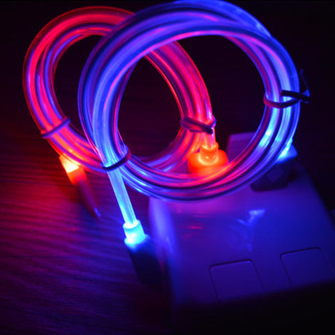 LED Charging Cable Cords Adapter For Apple iPhone 6 6Plus 5 5S 5SE 6 6s plus Android Phone