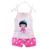 Girl Clothing Set Minnie Dot Shorts Summer Sets Cotton Children Kids Toddler Girl Clothes