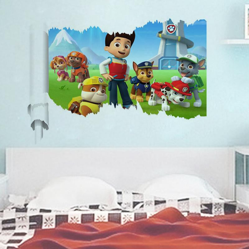 3d movie wall stickers diy decals animal mural art print cartoon poster 3.5