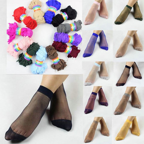 10pairs Candy Color Fashion  Socks ultra thin