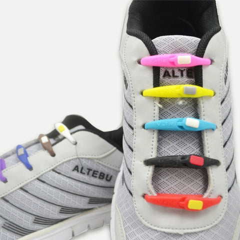 No Tie Shoelaces 6Pc/Set Unisex Elastic Silicone Shoe Lace All Sneakers Fit Strap