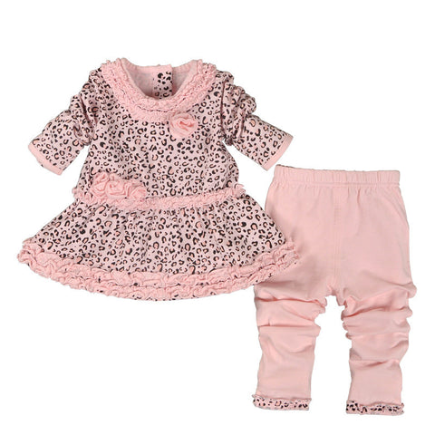 Baby Girl Birthday Dresses Set Baby Clothes Leggings Cotton Print