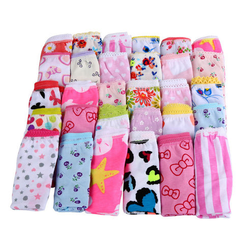 6pcs/pack Girls Kids Short Briefs Children Underpants bragas calcinha infantil menina Z1
