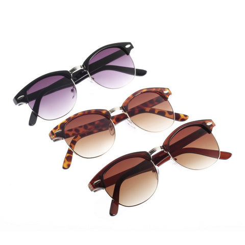 HOT New Classic Popular Unisex Retro Avaitor Golden Mirrored Sunglasses Glasses
