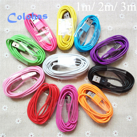 10FT Colorful Wire 8Pin USB Sync Charger  for Apple iPhone 6 5 5S 5G 5C