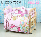 5PCS/SET 100% cotton baby Cartoon crib bedding set include pillow bumpers mattress