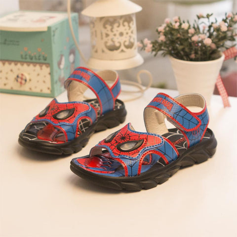 boys beach shoes non-slip Spider-Man