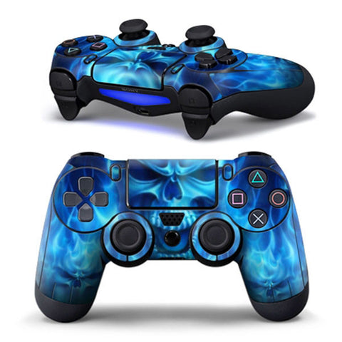 Blue Skull Sticker Case Protector For Sony for PS4 Playstation 4 Dualshock Controller