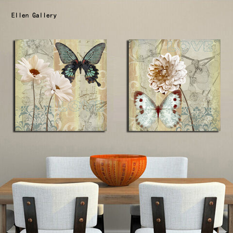 2pieces  wall art canvas painting wall pic for living