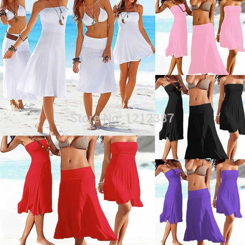 5 ColorsSwimwear Cover Up Dress For Women HB88