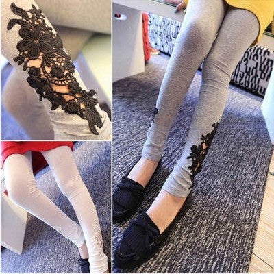 Maternity pants lace leggings