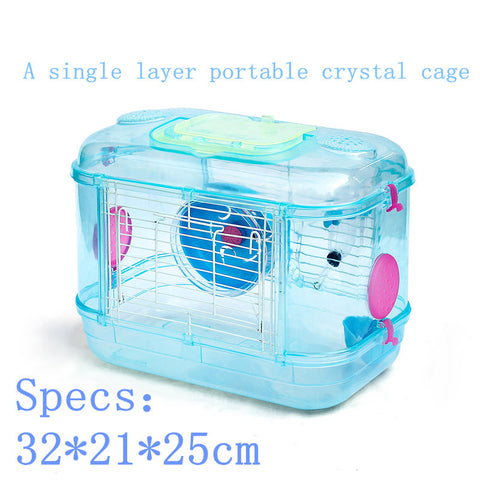 2016 multicolor plastic pet hamster cage Travel carry hamster cages