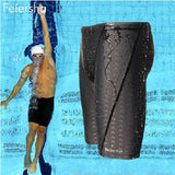 sharkskin,water repellent,long racing swimming swim trunks Sport shorts classic men swimwear