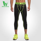 Men's Compression Fitness Joggers Pants Running Leggings Workout Gym Tights Sportswear