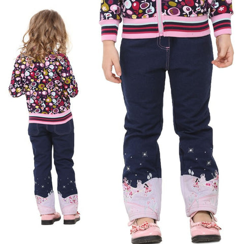 2-6T navy blue kids jeans for girls