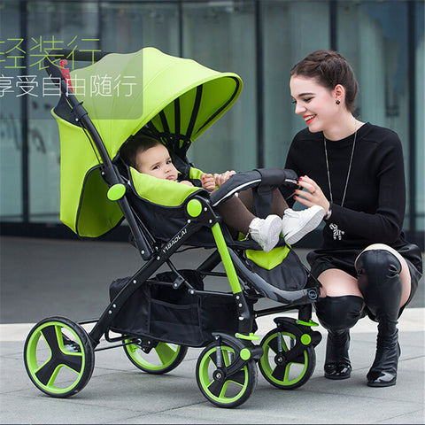 Light weight baby stroller Good Shock Absorbers Deluxe Baby Strollers,High Chair, with 2 Pneumatic Wheel +2 EVA Wheel