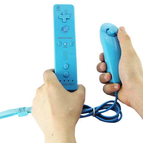 Built in Motion Plus and Nunchuck for Nintendo Wii with Silicone Soft Skin Case