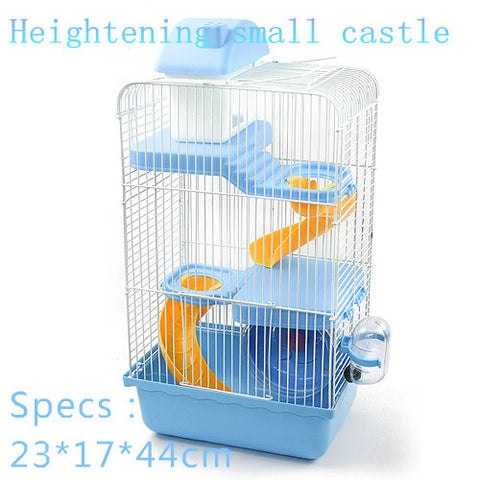 multicolor  pet gaiola hamster cage Heightening Castle Travel carry hamster cages