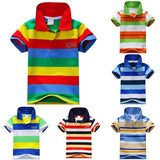 Toddler Big Boy Clothes Summer Style Short  Sleeve Cotton Striped Children's Clothing 1-7Y